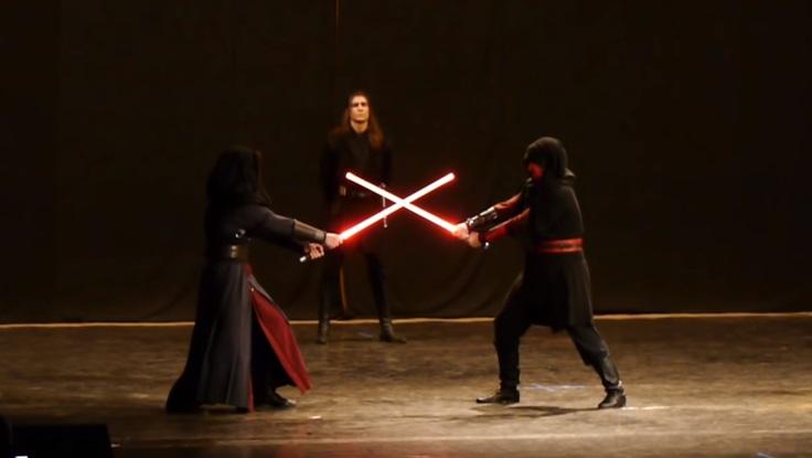 школа дуэли на световых мечах