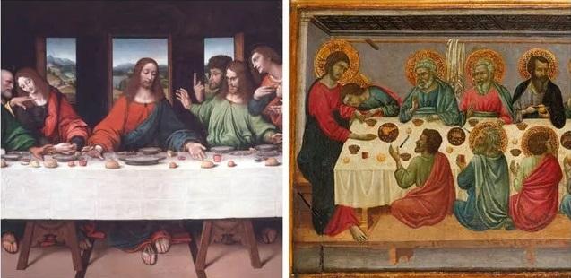 место Иисуса в тайной вечере